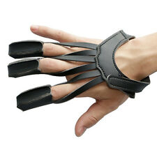 Archery 3 Finger Tab Glove Arrow Protective Guard for Compound Recurve Pull Bow