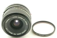 【 EX+5/w.filter 】Canon 28mm f/2.8 NEW FD Manual Focus Lens Wide Angle japan #382