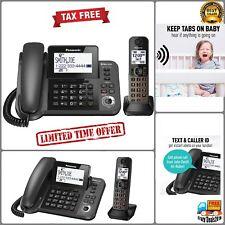 Panasonic Dect 1-Handset Landline Telephone Cordless Phones w Answering Machine