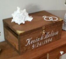 Personalized Wedding Card Box - Rustic Wedding Card Box - Rustic Wedding Stuff
