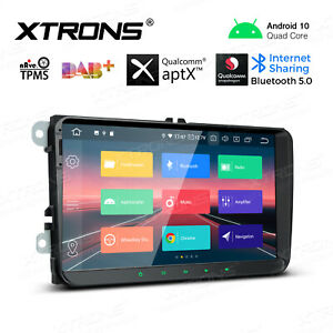 """9"""" Android 10.0 Car Stereo GPS Radio Qualcomm Bluetooth Head Unit for VW Jetta"""