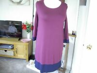Tunic top by TU size 14 in burgandy,navy new with tags