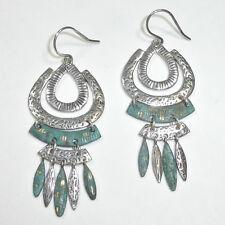 Silpada Patina Brass Green Elements Earrings .925 Sterling Silver W2836