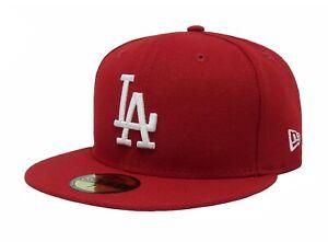 New Era Los Angles Dodgers Red MLB Hat LA cap Base Ball Snap Back 59Fifty LA Hat