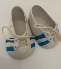Vintage Cabbage Patch Kids CPK Doll White Sneakers Shoes Blue Stripe Hong Kong