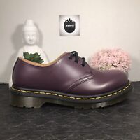Dr. Martens 1461 3 Eye Oxfords Purple Smooth Leather Men's Size 6/Women's 7
