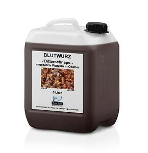 Blutwurz Bitterschnaps, Spirituose, 5 Liter Kanister, Gastro-Gebinde