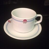 Vintage America West Airlines Cups &  Saucer By Rego Japan Restaurant Ware Mint