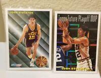 John Stockton Utah Jazz Hall Of Fame  1993 Fleer  & 1994 Topps