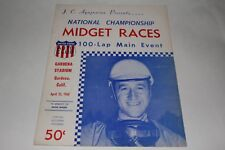 Midget Car Auto Racing Program, Gardena Stadium, April 23 1960 #2