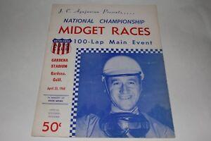 Midget Car Auto Racing Program, Gardena Stadium, April 23 1960 #2