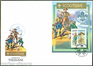 TOGO 2013 BOY SCOUTS SOUVENIR SHEET WITH BADEN POWELL  FIRST DAY COVER