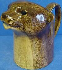 Quail Ceramic Otter Large Sized Half Pint Creamer Jug - Wildlife Animal Figure