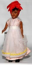 "Caribbean Or South American 7.5"" Woman Of Color Plastic Doll W/ Moving Eyes"