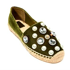 Tory Burch Vail Slip On Espadrilles Flats Shoes size 7.5