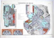 SOVIET MILITARY YAMZ-236 CLUTCH SCHEME COLOR POSTER