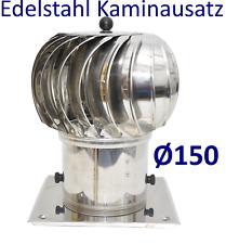 EDELSTAHL Kaminaufsatz Turbowent Ø150 mit einer quadrantischen Grundfläche