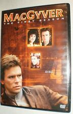New listing MacGyver First 1st Season 1 Disc 4 Replacement Dvd Disc w/Case 4 Episodes 189min