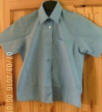 BHS Blouse  Shirt  Age 3-4 Year Blue Short Sleeved School Uniform