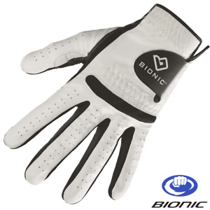 BIONIC RELAX MENS PADDED ORTHOPEDIC CABRETTA LEATHER GOLF GLOVE / ALL SIZES