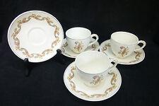 """Vtg Empire England Porcelain """"Symphony"""" Pattern 1949 Demitasse Cup & Saucer x3"""