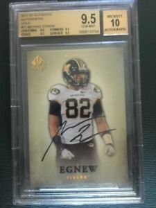 MICHAEL EGNEW BGS 9.5 AUTO 10 2012 UD SP AUTHENTIC GOLD AUTOGRAPH RC #/15 ROOKIE