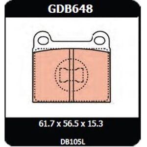 Audi 80 1.5L Manual 1973-1975 TRW Front Disc Brake Pads GDB648 DB105