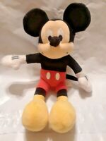 "Disney's Mickey Mouse 9"" Stuffed Plush Toy Vintage Old School Plushy Beanie EUC!"
