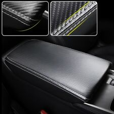 Carbon Leather Center Console Armrest Box Panel Cover Trim For Honda Accord 2018