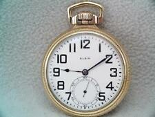 Antique Gold Filled Elgin Railroad Pocket Watch B.W. Raymond 21 Jewels 5 Pos