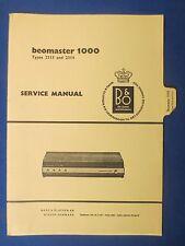 B & O  BEOMASTER 1000 SERVICE MANUAL TYPES 2313 2314 FACTORY ORIGINAL
