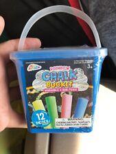 New Rainbow Kids Childrens Washable Sidewalk Chalk Plastic Tub 12 Count NEW