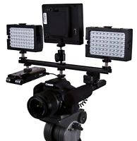 "12"" DSLR FLASH SHOE Extension Bracket Bar Camera LED Light Mic SLR Hot Cold Shoe"