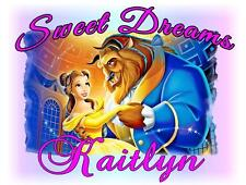"BEAUTY and the BEAST Personalized PILLOWCASE ""Sweet Dreams"" Any NAME Super Soft"