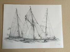Dessin de marine - De Benoit Leman - Peintre Officiel du Yacht Club de Monaco
