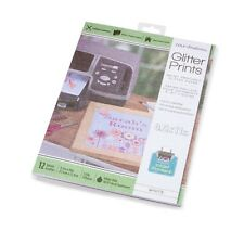 Core'dinations® Glitter Prints Paper - White - 8.5 x 11 inches - 12 sheets