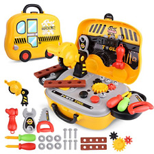Tool Sets for Children with Carrycase Workbench Accessories Role Play Toy Gift