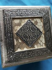Jewelry or Gift Box Oxodised Square Design Mukhvas Box. (Buy 2 Or More $15 Ea)