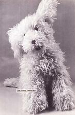 LARGE SHAGGY DOG - height 65cm - COPY toy knitting  pattern