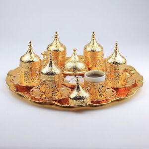 Handmade Copper Turkish Coffee/&Espresso Serving Set,Tray:OTTOMAN HANDCRAFTED