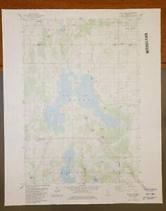 "Rush Lake, Minnesota Original Vintage 1983 USGS Topo Map 27"" x 22"""