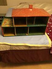 Vintage Cohn Tin Litho Two Story Dollhouse
