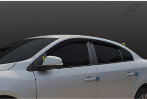 Wind Deflector Weather shields 4p for 06/2010 - 2018 Renault Fluence (SM3)