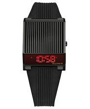 NEW Bulova Men's Digital Archive Computron Black Silicone Strap Watch 98C135