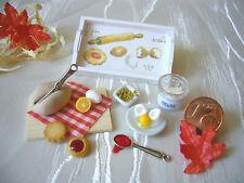 =BACKZUBEHÖR (B)= Bäckerei Puppenstube Puppenküche Fimo Miniatur 1:12/1:10 by HW