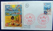 Enveloppe 1é jour du 30 11 1974 La Croix Rouge & La Poste Secourisme de montagne