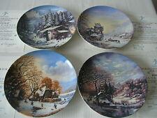 4 Fürstenberg Winterpoesien Porzellanteller Wandteller Echtheitszertifikat