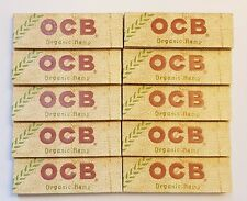 Brand New Ocb Rolling Papers Organic Hemp Lot of 10x50 Booklets 70mm