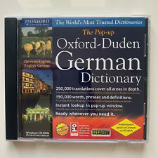 The Pop-up Oxford-Duden German Dictionary (German-English/English-G erman) - Pc