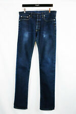 Dior Homme Stretch Skinny Blue jeans 33 32 Rare Super Slender Slim Pants Washed